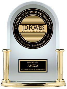 "A J.D. Power trophy: Amica ranks ""Highest in Customer Satisfaction With the Property Insurance Claims Experience, Eight Years in a Row."""